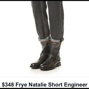 Frye Natalie Short Engineer Boots EUC